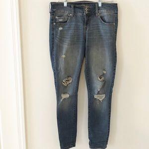 TORRID distressed skinny jean